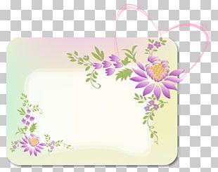 Border Purple Flower Arranging PNG