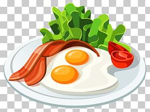Fast Food Breakfast French Fries Hamburger Bacon PNG