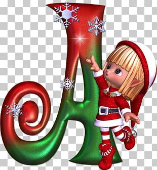 Alphabet Letter Christmas ABC Santa Claus PNG