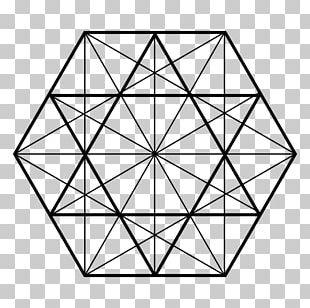 Hexagon Triangle Sacred Geometry Shape PNG