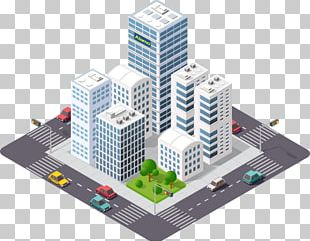 Isometric Projection Building Cityscape PNG