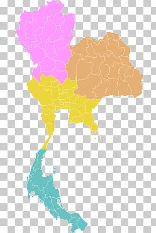 Thailand Blank Map Map PNG