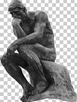 The Thinker Statue Bronze Sculpture PNG