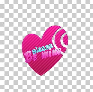 Pink M Heart Font PNG