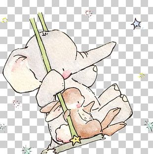 Elephant Rabbit Drawing Paper Child PNG