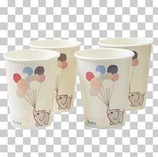 Paper Cup Elephantidae Baby Shower Party PNG