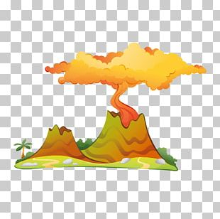 Volcano Wall Decal Sticker Dinosaur Paper PNG