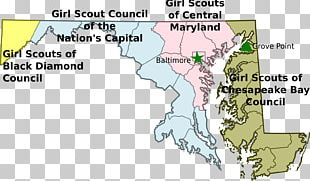 Boy Scouts Of America Scouting In Maryland Girl Scouts Of The USA Map PNG
