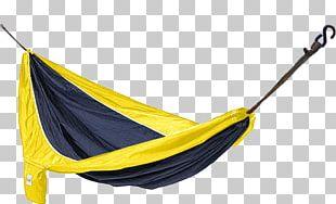 Hammock Parachute Fabric Blue Yellow PNG