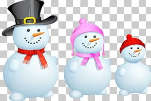 Snowman Christmas Family PNG