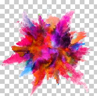 Color Powder Explosion PNG