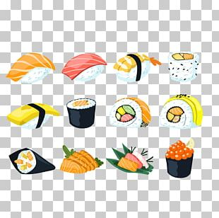 Sushi Japanese Cuisine Sashimi Onigiri Fusion Cuisine PNG