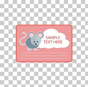 Computer Mouse Red Text Box PNG