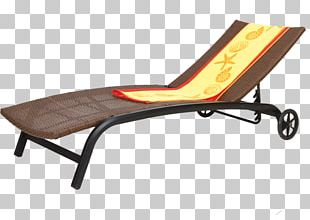Table Chaise Longue Deckchair Furniture PNG