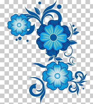 Flower Blue Pattern PNG