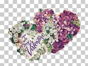 Valentine's Day Vinegar Valentines Love Heart Floral Design PNG