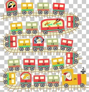 Train Advent Calendar Christmas Toy PNG