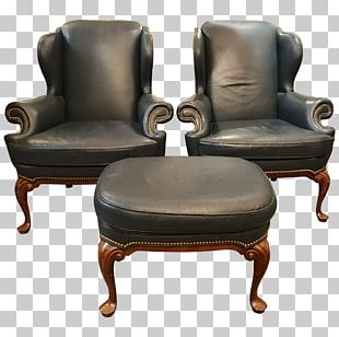 Club Chair Foot Rests Furniture Wing Chair PNG