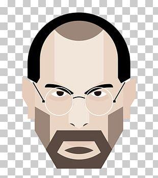 Steve Jobs Illustration Cheek Nose PNG