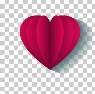 Heart Magenta Valentines Day PNG