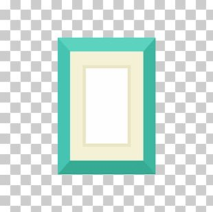 Frame Turquoise Area Pattern PNG