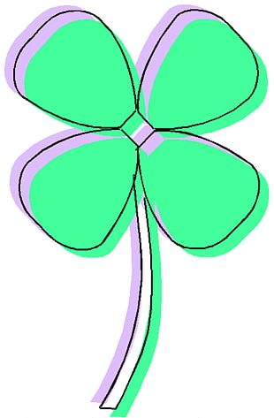 Luck Saint Patricks Day Four-leaf Clover Shamrock PNG