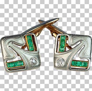 Jewellery Cufflink Art Nouveau Gold PNG