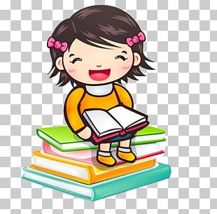 Reading Child Girl Book PNG