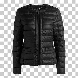 Leather Jacket Coat Sleeve Fur PNG
