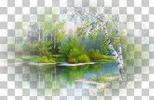Landscape Painting Embroidery Cross-stitch Watercolor Painting PNG