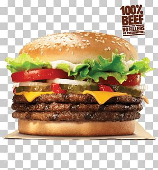 Whopper Hamburger Cheeseburger Bacon Cheese Sandwich PNG