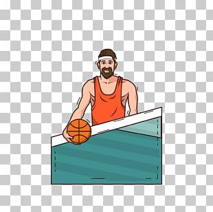 Basketball Player Illustration PNG