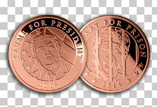 Coin United States Of America US Presidential Election 2016 President Of The United States Crippled America PNG