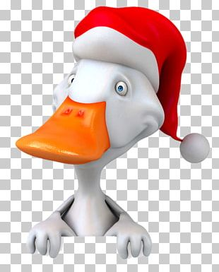 Duck Christmas Illustration PNG