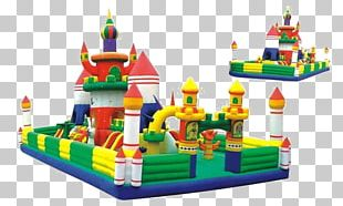 Inflatable Castle Toy Play Child PNG