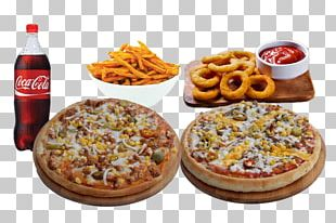 Pizza Hamburger American Cuisine Junk Food French Fries PNG