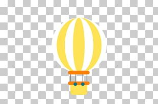 Hot Air Balloon Yellow Font PNG