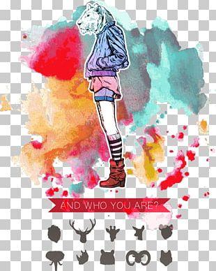 Deer Watercolor Painting Cartoon Illustration PNG