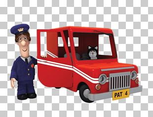Postman Pat Next To Van PNG
