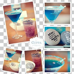 Blue Hawaii Wine Glass Cocktail Garnish Non-alcoholic Drink PNG