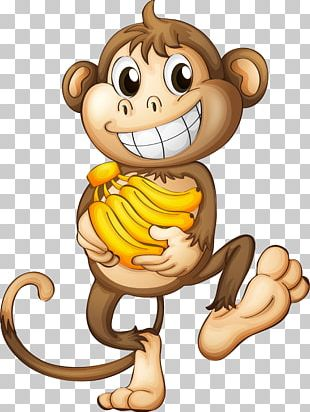 Monkey Banana PNG