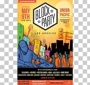 Block Party Poster Flyer Los Angeles PNG