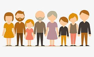Cartoon Character Family PNG