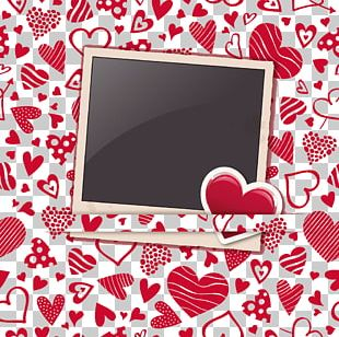 Heart Frame Valentines Day Pattern PNG
