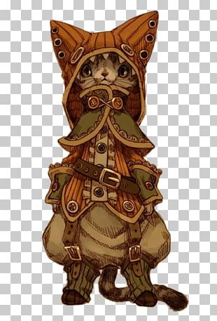 Cat Steampunk Concept Art Drawing PNG