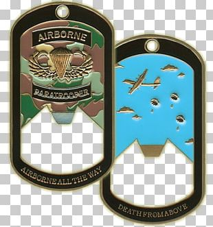 Paratrooper Dog Tag Airborne Forces 82nd Airborne Division Military PNG