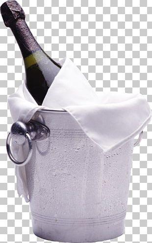 Champagne Wine Bottle Bucket PNG