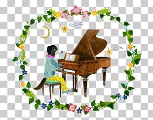 Play Piano Dog Illustration PNG