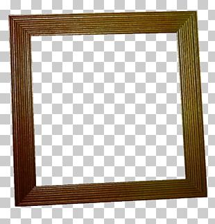 Wood Stain Frame Square PNG