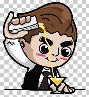 Cocktail Beer Bartender Illustration PNG